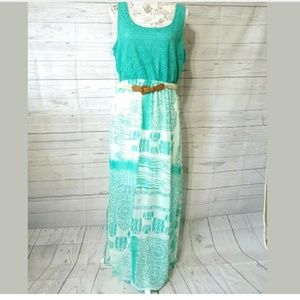 Maurice's Women's XL Maxi Dress Belted Sleeveless